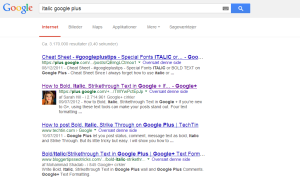 SERP med Google+-post